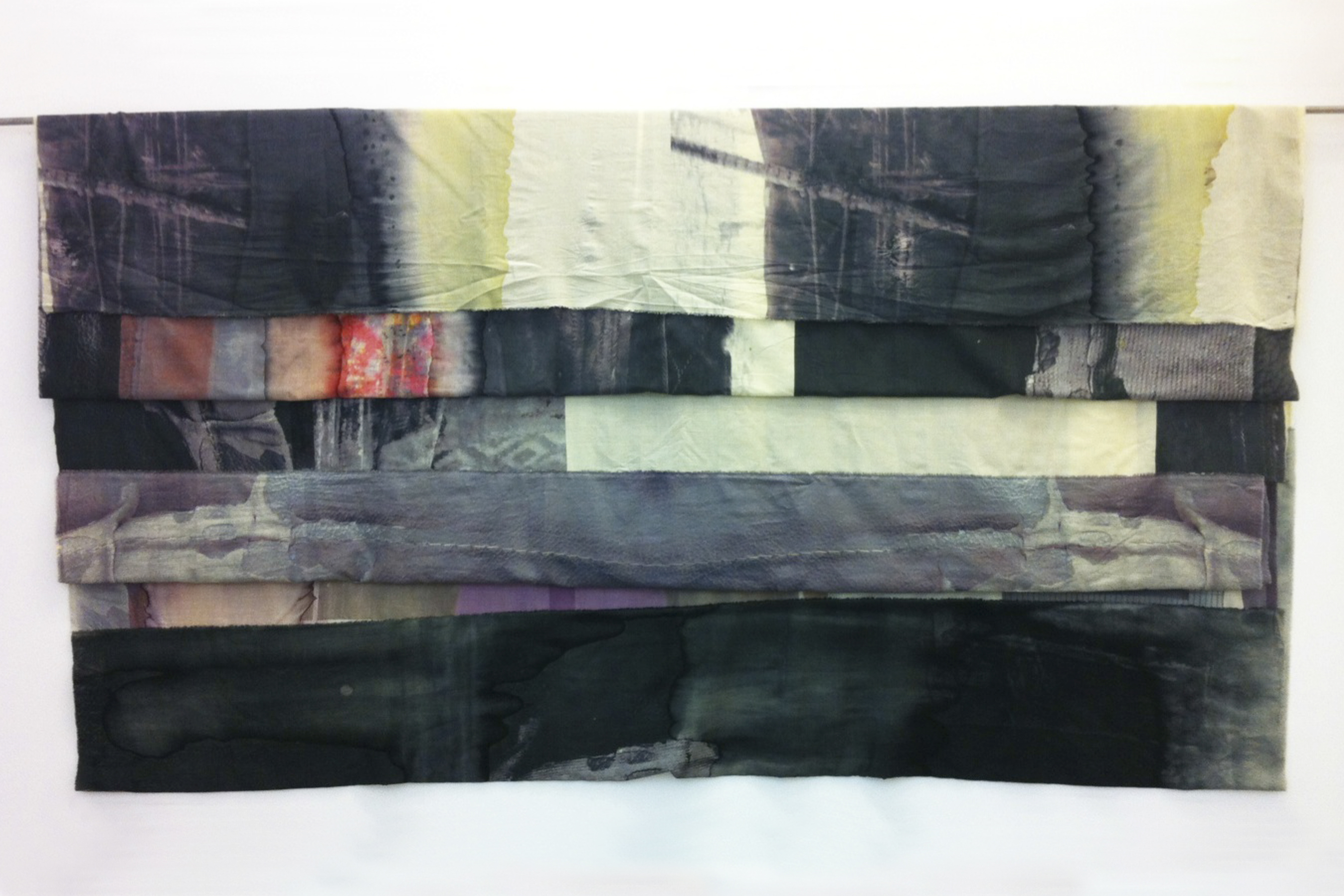 They Will Reoccur And Disappear, But Exist Forever III 2012 Printed and folded wool, wall hangings 380x170cm